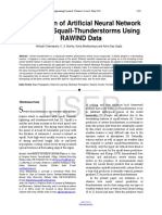 Application of Artificial Neural Network to Predict Squall Thunderstorms Using RAWIND Data