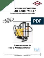 Manual de Aspiradora Turbo 4000 Antiexplosiva
