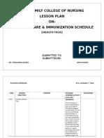 newborn care and current immunization schedule