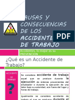 Causas y Consecuencias de Los Accidentes Laborales