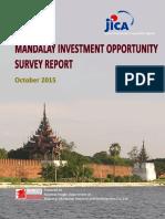 En Mandalay Investment Opportunities Survey Final Report 160217 Mic Jica Mmrd