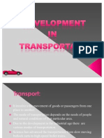 Development in Transportation