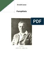 Leese Arnold - Pamphlets
