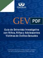 Entrevista Investigativa Con Niños y Adolescentes Víctimas de Delitos Sexuales