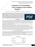 Study and Comparison of VM Scheduling Algorithm in Cloud Computing Using CloudSim Simulator