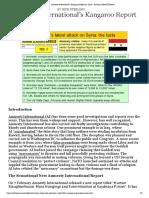Amnesty International's Kangaroo Report on Syria - American Herald Tribune