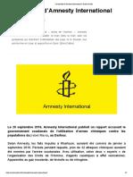 Le discrédit d'Amnesty International _ Arrêt sur Info