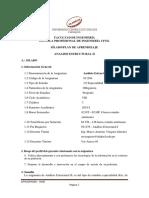SPA - Análisis Estructural II 2018-I