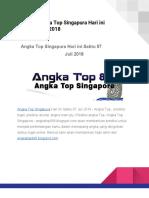 Prediksi Angka Top Singapura Hari Ini Sabtu 07 Juli 2018