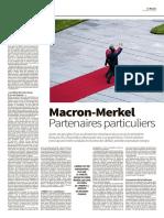 Macron-Merkel partenaires particuliers