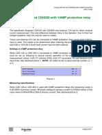 ANGEN.en017 Using CSH120 With VAMP Protection Relay Range