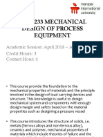 Intro - Ekb 4233 Mechanical Design of Process Equipment
