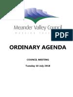 Meander Valley Council July agenda