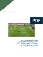 40 Ejercicios Jose Mourinho