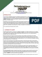 The Unauthorized History of HAARP