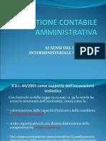 La Gestione Contabile Amministrativa