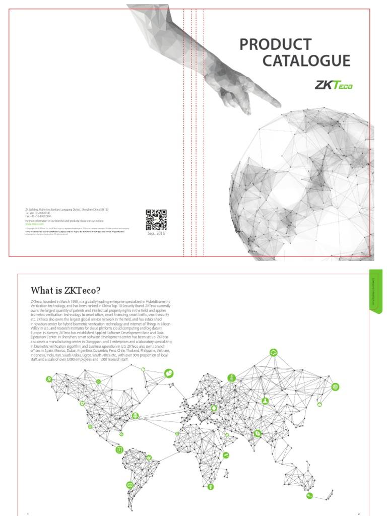 ZKTeco New Catalogue 2017 pdf | Access Control | Biometrics