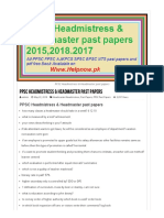 PPSC Headmistress & Headmaster Past Papers Solved 2016,2017