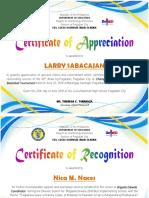 PLATA 2Certificate of Appreciation