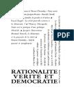 Rationalité , Vérité & Démocratie