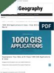 1000 GIS Applications & Uses
