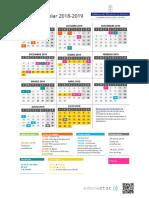 Calendario 2018-19 Vertical