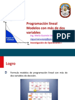 Modelos de Programación Lineal Con Más de Dos Variables - UNPRG