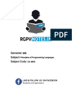 Principles of Programming Languages - Unit 1