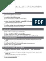 PRECLOsING Checklist