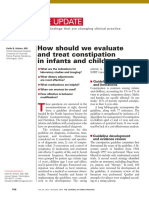 How Should We Evaluate Constipation in Infants and Children