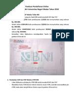 Panduan Pendaftaran Online