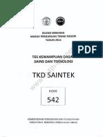 Saintek 2014 Kode 542