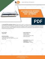 Datasheet Distribuidor Interno Óptico Rack Dio 48 Fibras Infortel