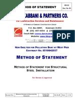 Method of Statement Structural Steel