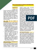 Lectura - Procedimientos para la selección de fuentes de información.pdf