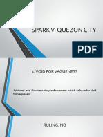 SPARK V. QC
