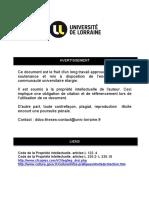 Etude Des Materiaux de Reconstitution Prothetique.