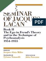 300216361 Lacan Jacques Seminar Book II Ego PDF