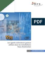 1- Plaquette INRS Les Agents Extincteurs Gazeux