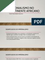 Colonialismo No Continente Africano