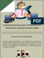 Contextualización Para Instructores en Formación Complementaria SENA