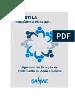 Prova Operador de Sistemas Tratamento de Água e Esgoto Sanitário SANEAGO UEG