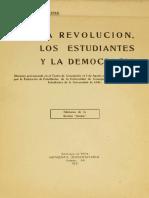 La revolución, los estudiantes y la democracia