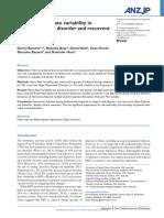 Australian and New Zealand Journal of Psychiatry Volume Issue 2016 [Doi 10.1177%2F0004867416652734] Bassett, D.; Bear, N.; Nutt, D.; Hood, S.; Bassett, S.; Hans, D. -- Reduced Heart Rate Variability i