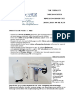 DRO-100-HE Plus - Under Counter Reverse Osmosis Unit