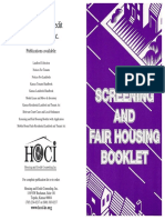 Landlords Screening and Fair Housing Booklet