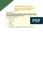 TRABAJO de INVESTIGACION - Derecho Procesal Civil I Teoría Del Proceso Civil
