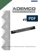 ADEMCO 4110XM Installation Manual