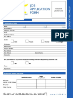 Feil Job Application Form