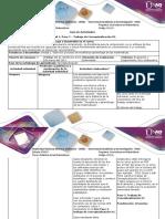 Guía de Actividades y Rúbrica de Evaluación. Paso 3 - Trabajo de Conceptualización U1